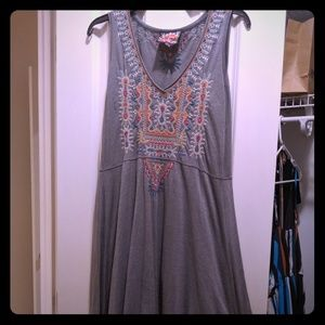 Johnny Was Dresses - Johnny Was Embroidered Grey Dress